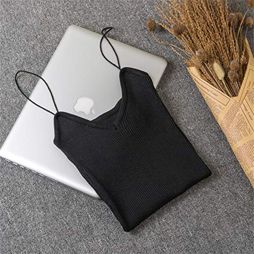 Amazon.com: Autumn Water Hot Elastic Womens Slim Sleeveless Tank Tops Spaghetti Strap Vest Casual Camis Base Crochet Knit Fittness Tops Roupas Femininas: ...