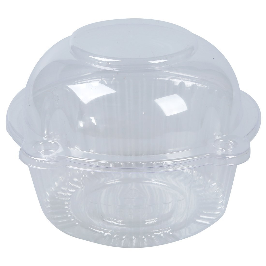 SODIAL(R) 50 x Single Plastic Clear Cupcake Holder / Cake Container Dome Muffin Carrier TRTA11A