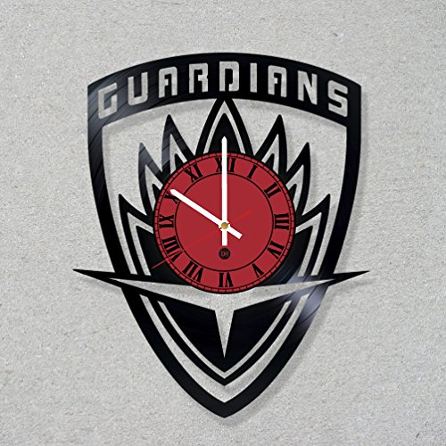 [Vinyl Record Wall Clock Guardians Galaxy movie comics decor unique gift ideas for friends him her boys girls World Art Design] (Thanos Movie Costume)