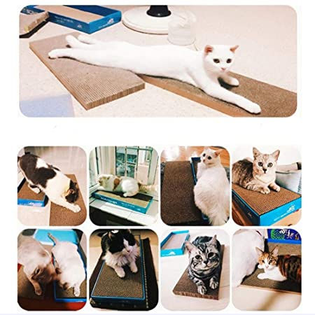 Efficient Big Cat Scratcher Cat Bed Lounge Cardboard Paper Scratching Pad Pet Cat Scratching Board House Grinding Claws Device Home & Garden Pet Products