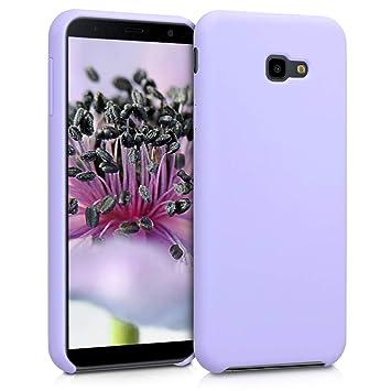 kwmobile Funda para Samsung Galaxy J4+ / J4 Plus DUOS - Carcasa de TPU para teléfono móvil - Cover Trasero en Lila
