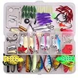Bluenet Fishing Lures 1 Set (135PCS), including Frog Lures, Spoon Lures, Soft Plastic Lures, Popper, Crank, Rattlin and More