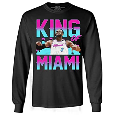 buy popular e1a1a b17bf Amazon.com: Basketball D-Wade King of Miami Jersey 3 ...