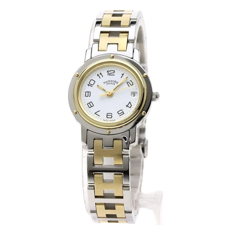 [エルメス]クリッパー 腕時計 ステンレススチール/コンビ レディース (中古) B07FF2FZXX
