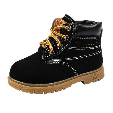 UK Boys Girls Warm Autumn Winter Martin Boots Fur Lined Children Shoes Shoes New