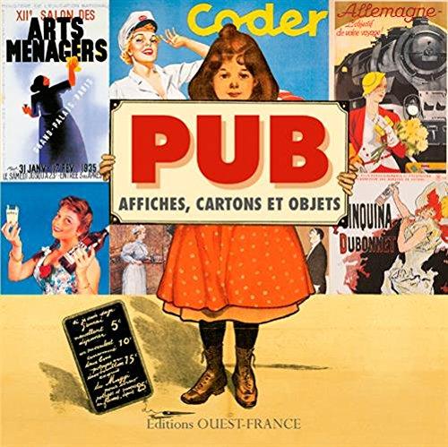Pub, affiches, cartons et objets