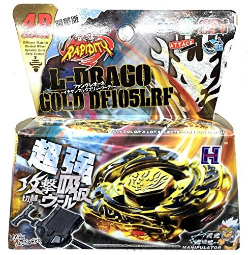[L-DRAGO GOLD BEYBLADE 4D TOP METAL FUSION FIGHT MASTER NEW + LAUNCHER USA SELLER by Rapidity] (Beyblade Halloween Costumes)