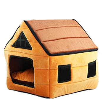 Piel de Ciervo de caseta desmontable Yurta de chocolate Casa todos Agua Lavado Bar mascotas Nest ...