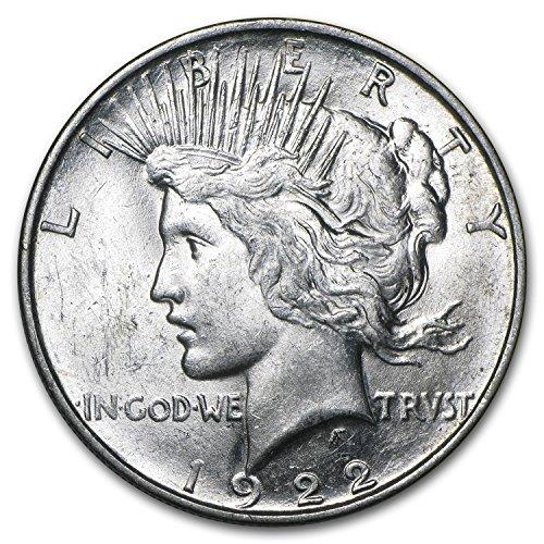 (1922 D Peace Dollar AU $1 About Uncirculated)