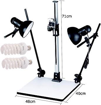 Soporte de copia Pro con dos bombillas de luz Accesorios con A Placa De Liberación Rápida Para DSLR