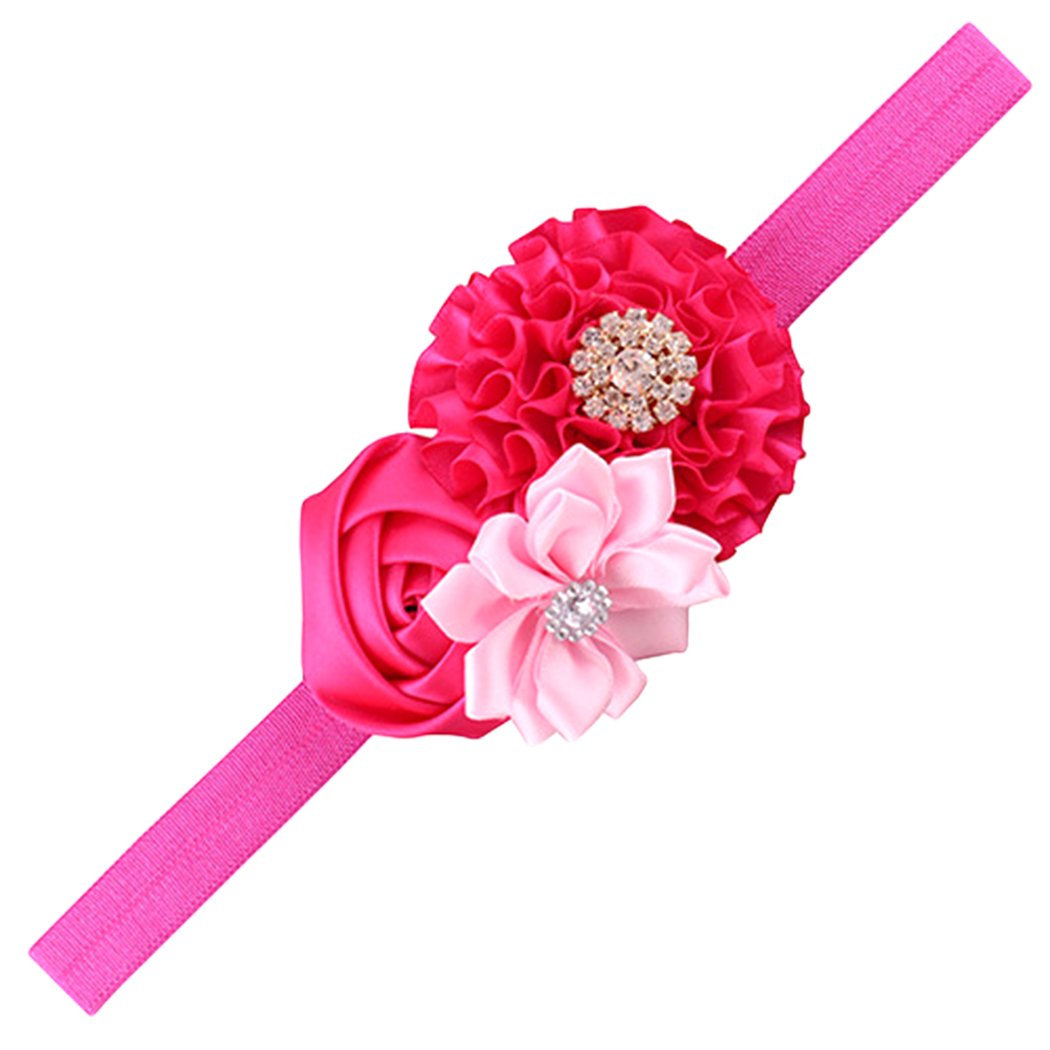 Xiaoyu 12PCS Sweet Baby Girl Multicolor Peony Flower Headbands,Perfect for Newborns//Toddlers