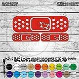 Heart & Crossbones Bandaid Set of 3 - Vinyl Die Cut Decal Sticker for Car, Laptop, etc.