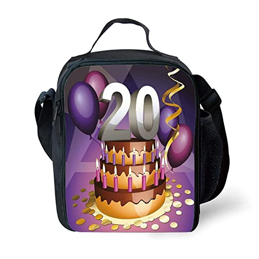 School Supplies 20th Birthday Decorations,Cartoon Print ...