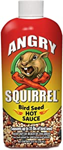 Angry Squirrel Bird Seed Hot Sauce, 8oz, for Up to 35 Pounds of Bird Seed