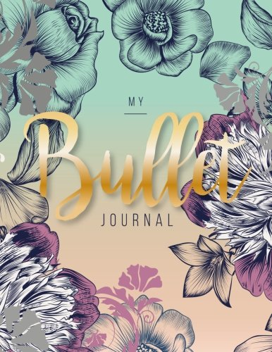 My Bullet journal: quarterly planner with blank yearly & monthly calendar, and habit tracker, 120 dot grid & 15 lined pages, 8.5x11in, Light green ... large diary journal to write in everyday life
