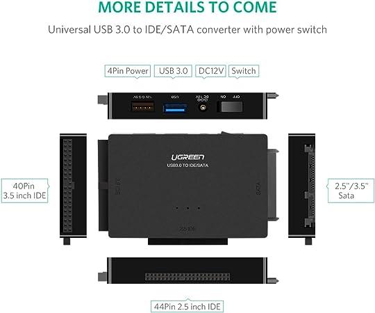 UGREEN USB 3.0 a IDE y SATA Adaptador para 2.5 y 3.5 Pulgadas ...
