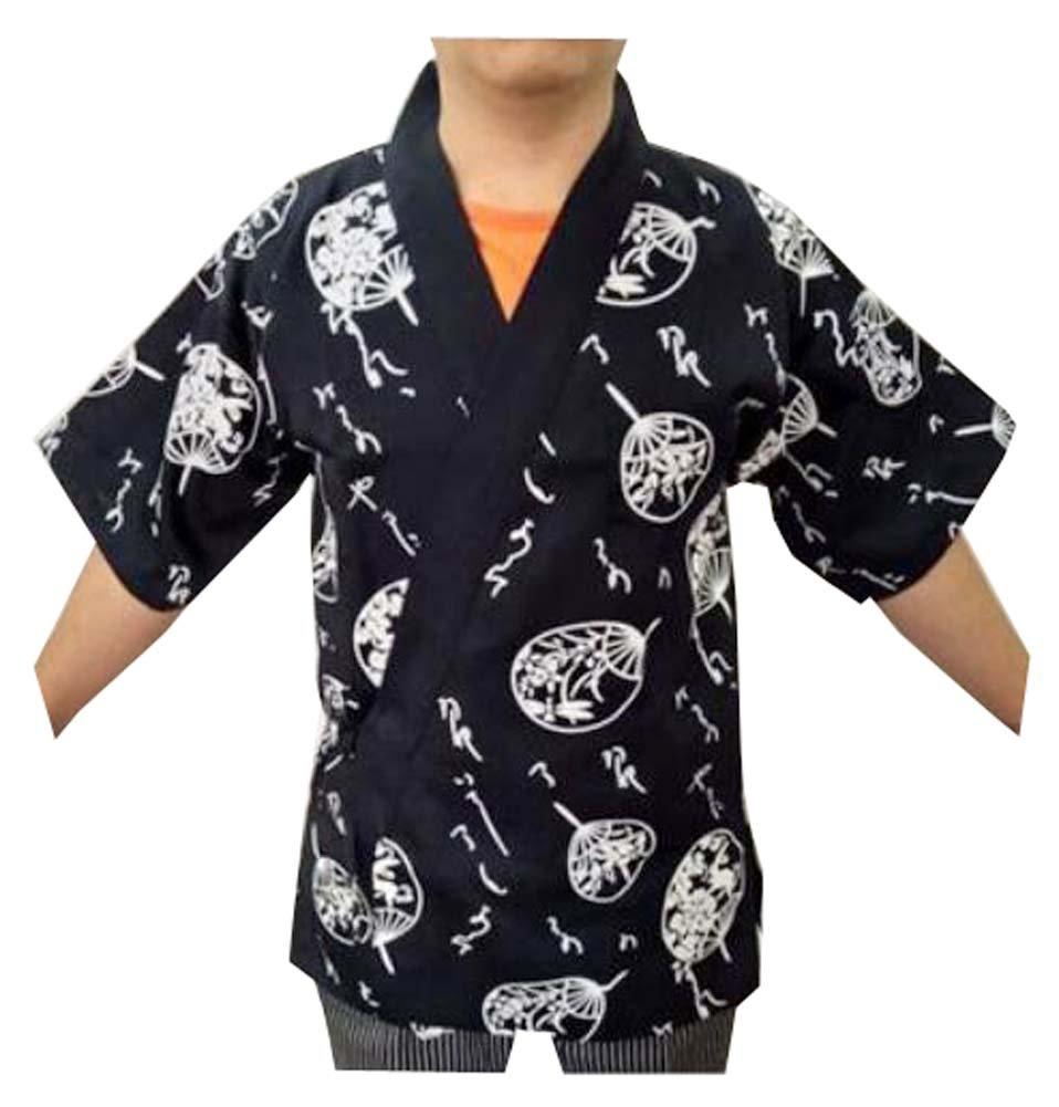 Man Sushi Chef Coat in stile giapponese - Uniformi da lavoro uniformi da lavoro (sottile), F Black Temptation