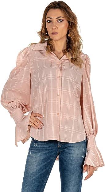 Camisa de Mujer See by Chloé Rosa Fantasía Smoky Pink Woman Shirt Rosa 34: Amazon.es: Ropa y accesorios