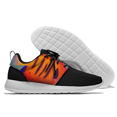 PIN Men's Colorful Tropical Fish Casual Sneakers Lightweight Athletic Tennis Walking Outdoor Sports Running Shoes