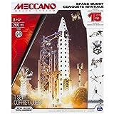 Meccano Space Quest Set, 15 Model Building Set, 260 Pieces, For Ages 8+, STEM Construction Education Toy