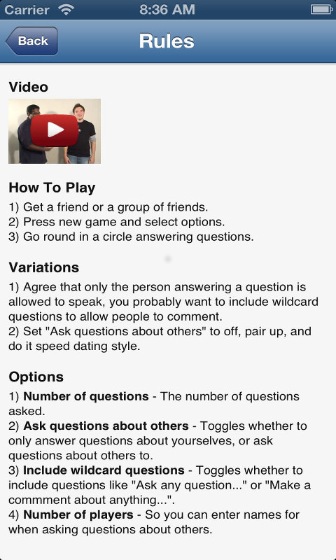 speed dating rules and questions