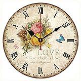 Bedroom Styles Romantic Sweet Roses Clock, 14