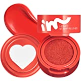 I'M MEME I'M Heart Stamp Blusher | Blendable Cushion Blush with a Matte Finish | Fun Makeup for Teens | 001 Beloved Red…