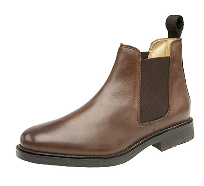 Mens Roamers Leather Chelsea Boots Cushioned leather lining