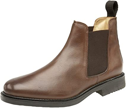 Mens Roamers Leather Chelsea Boots
