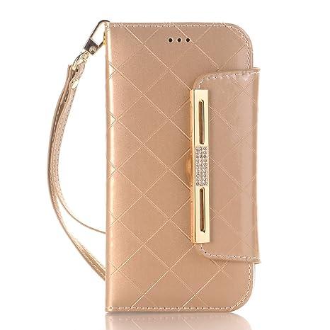 Amazon Com Ayans Women Wallet Iphone X Case Grid Pattern Leather