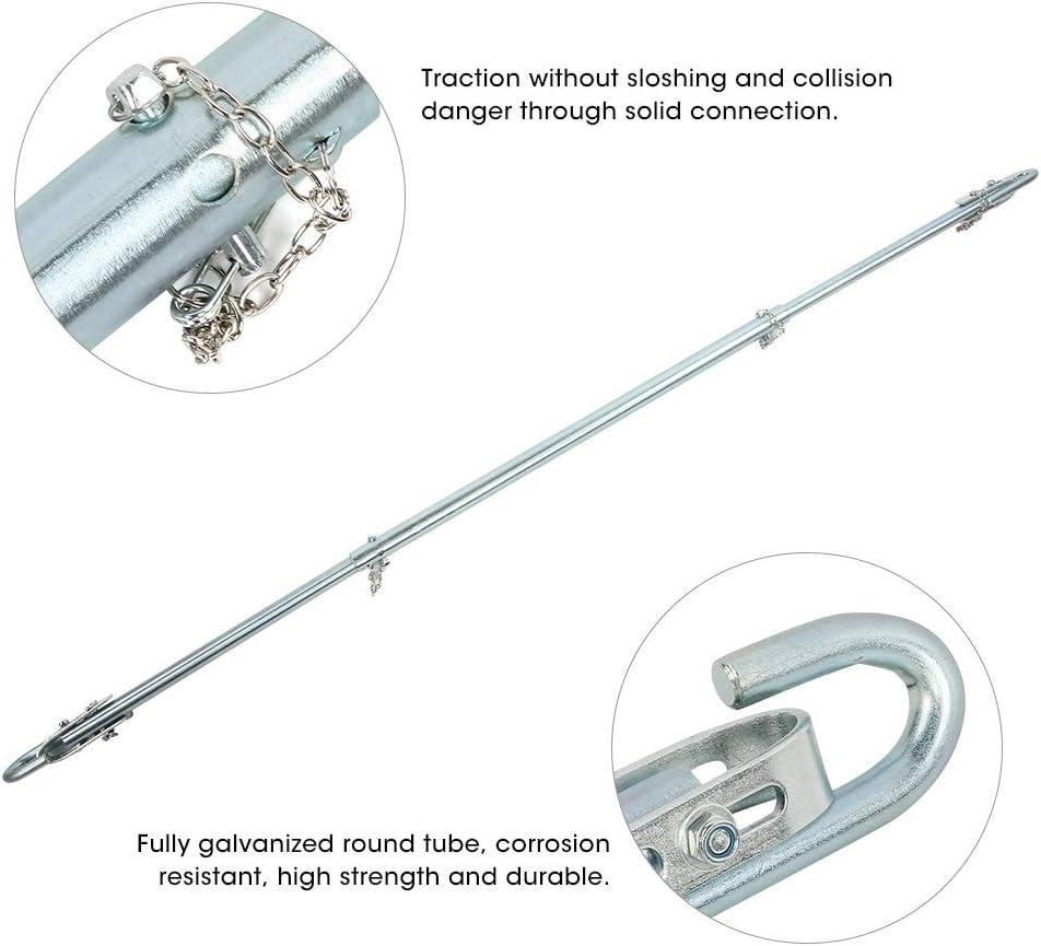 maximale Abschleppkraft von 2 Tonnen Abschleppstangen-Anh/ängerkupplung im Falle einer Panne f/ür PKW Autos Lieferwagen Allradfahrzeuge