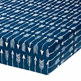Camp River Rock Navy Blue Arrow Fitted Crib Sheet by Glenna Jean