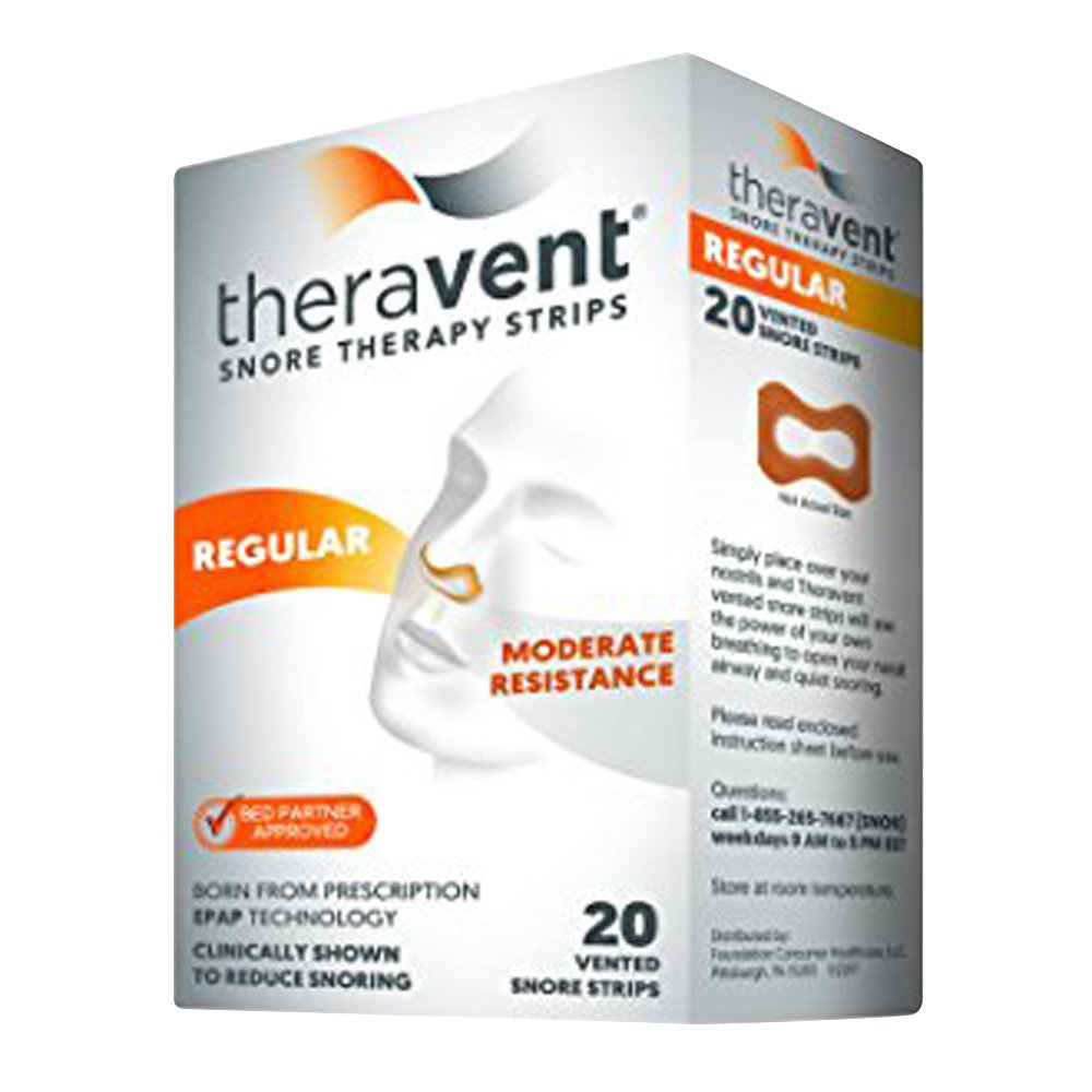 Theravent Snore Therapy Quiet Nights Flexible Seal Strips, Regular, 20 Ea (pack of 6)