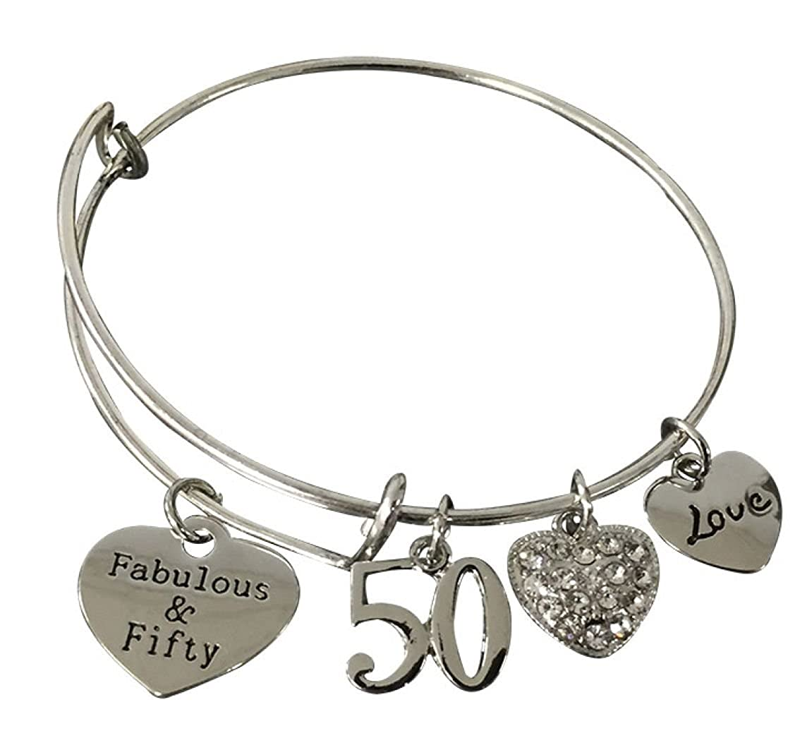 Amazon.com Infinity Collection 50th Birthday Gifts for Women 50th Birthday Expandable Charm Bracelet Adjustable Bangle Perfect 50th Birthday Gift Ideas ...  sc 1 st  Amazon.com & Amazon.com: Infinity Collection 50th Birthday Gifts for Women 50th ...