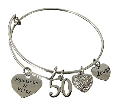 50th Birthday Gifts For Women 50th Birthday Expandable Charm