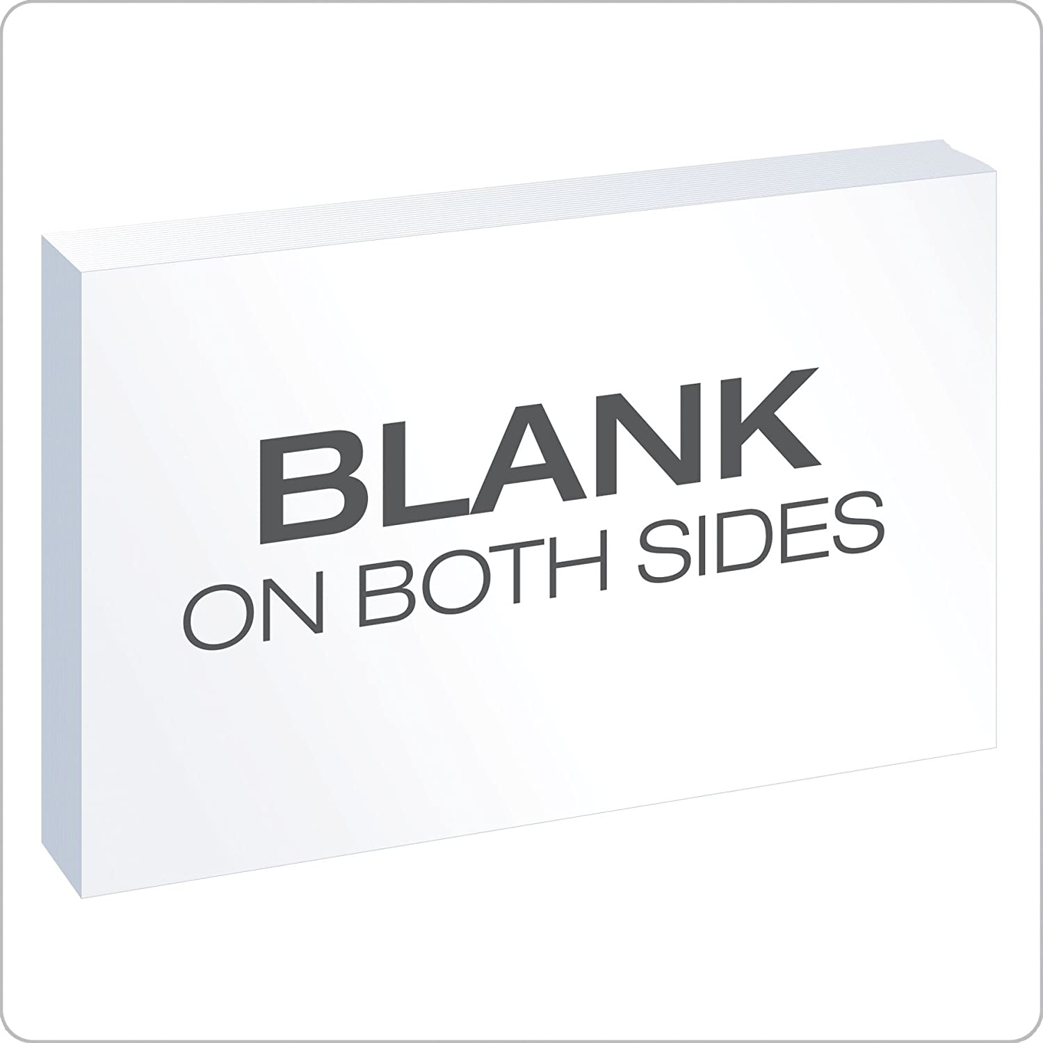 "oxford blank index cards 4"" x 6"" white 100 pack"