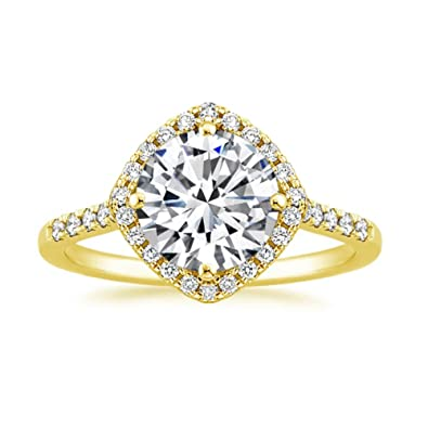 0.95 Ct Solitaire Engagement Ring 14k Rose Gold Simulated Diamond Ring All Sizes Other Fine Rings