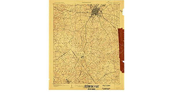 1907 1:62500 Scale YellowMaps Charlotte NC topo map 15 X 15 Minute 19.7 x 16.4 in Historical