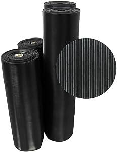 Rubber-Cal 03_167_W_FR_08 Fine Rib Corrugated Rubber Floor Mats, 1/8