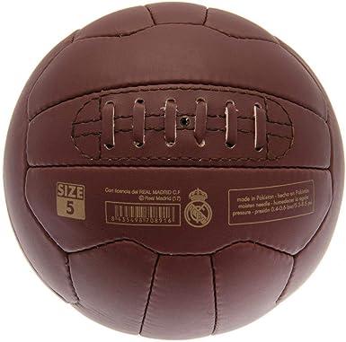 Real Madrid CF - Balón de fútbol modelo Retro Heritage (Talla ...