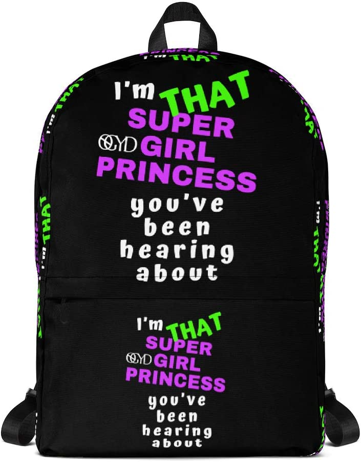 Backpack Pink Princess Trendy Bag Purse Tote Organizer Carry Laptop Lunch Cooler Pouch Storage for boys girls students mom dad men women kid teens