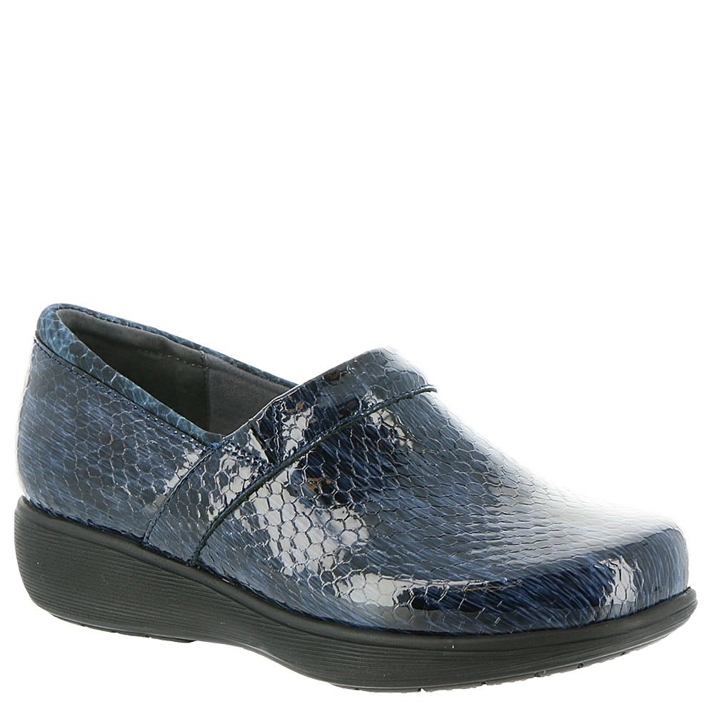 SoftWalk Women's Meredith Sport Blue/Black Snake Leather 7 M US