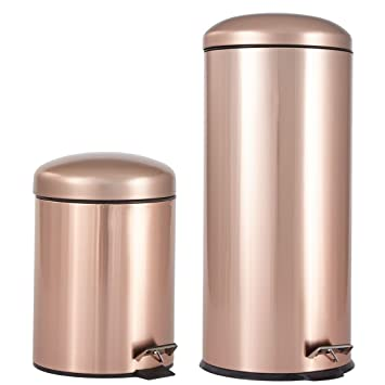 Delicieux Brylanehome Set Of 2 Step Trash Cans (Copper,0)