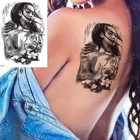 adgkitb Juego de 3 Piezas de Hoja y Tatuaje de Rugido de león ...