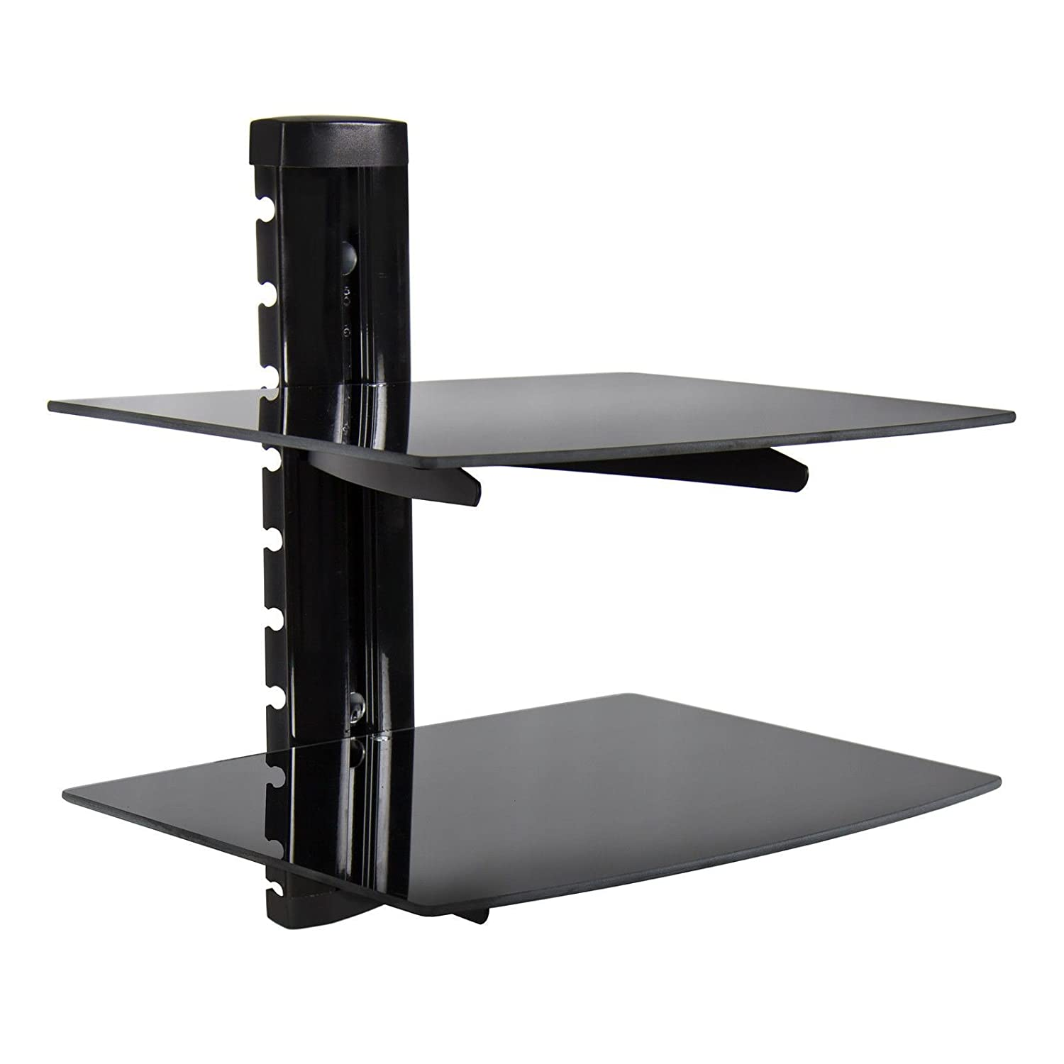 Amazon 2 Tier Dual Glass Shelf Wall Mount Bracket Under Tv