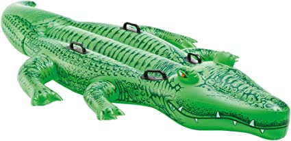"Amazon.com: Intex Giant Gator Ride-On, 80"" X 45"" ..."