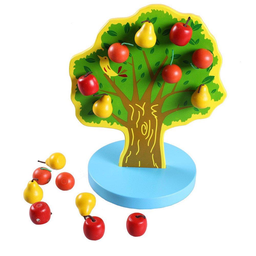 カリムパズル 木製玩具 木製 ストリングツリーパズル 教育開発 赤ちゃん 子供 トレーニング玩具 B07K7NRF8P  マルチカラー