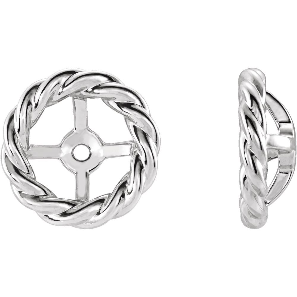 Sterling Silver Rope Earring Jackets