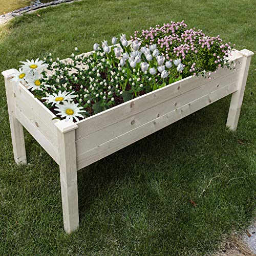 COZUHAUSE Solid Wood Raised Garden Bed for Vegetable/Flower/Fruit 47
