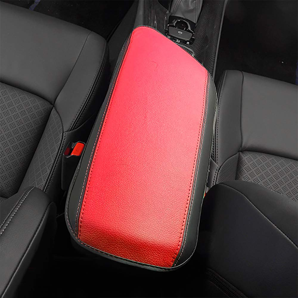 BeHave Autos Armrest Cover,Carbon Fiber Pattern Armrest Box Cover fit for Toyota CHR 2018 2019 Central Console Armrest Box,Black Carbon Fiber Pattern with Black Stitches